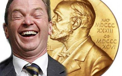 Christopher Pyne wins Nobel Prize for Irony.