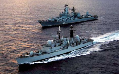 Russia sends Naval vessels to defend against shirtfront
